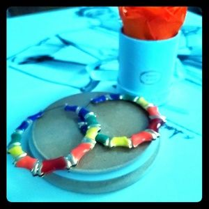 BRAND NEW: Multi Colored Hoop Earrings